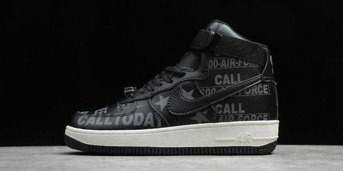 Save 30% to Buy Nike Air Force 1 High 07 PRM Toll Free Black for 2021 New Year